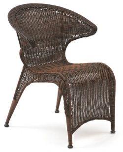 Cadeira Terraza em Fibra Sintética Trama Café | Mestra *empilhável - Móveis Área Externa - Móveis para Condomínios, Piscinas, Clubes, Áreas de Lazer, Construtoras, Butzke