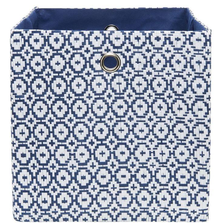 TIDY UP Úložný box - modrá/bílá