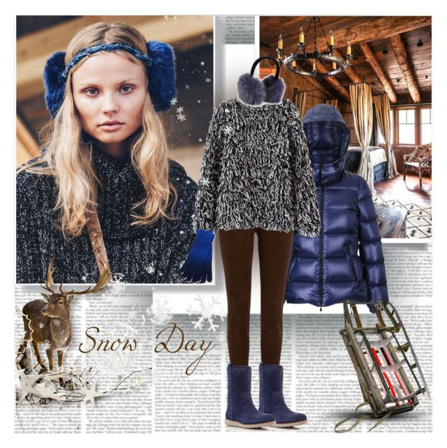 Snow Day by stylepersonal on Polyvore featuring polyvore, fashion, style, Moncler, Ralph Lauren Black Label, Cole Haan, Qi Cashmere and skiholidays