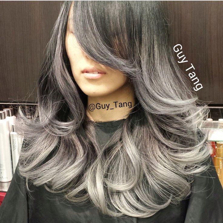 Gray/charcoal ombré | Grey/Icy Ombré | Pinterest | Ombre