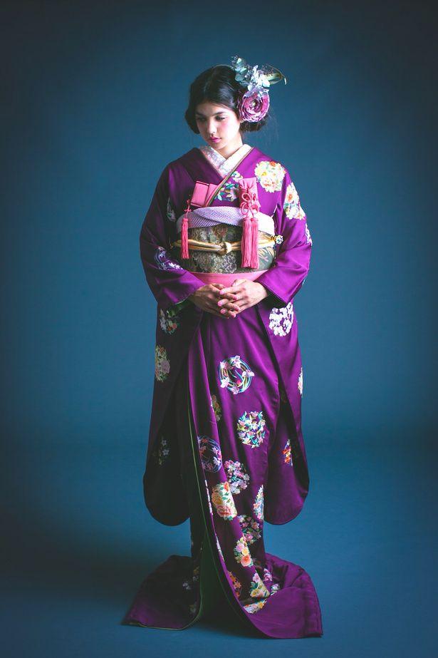 紫手刺繍花丸紋 |くくる(CUCURU) 写真・フォトギャラリー|ザ・ウエディング