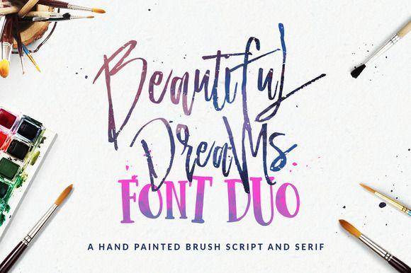Beautiful Dreams - Font Duo by Dirtyline Studio on @creativemarket
