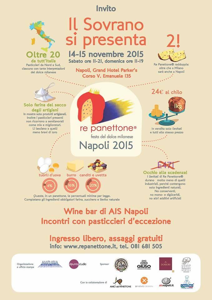 Sabato 14 e domenica 15 novembre Re Panettone approda a napoli con la SPECIAL EDITION partenopea: protagonisti i maggiori produttori italiani del lievitato natalizio!