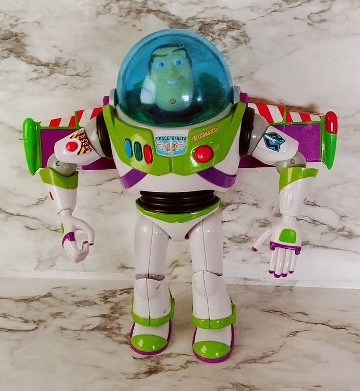 """12"""" Buzz Lightyear Power Blaster Talking Toy Story Action Figure Thinkway 90s"""