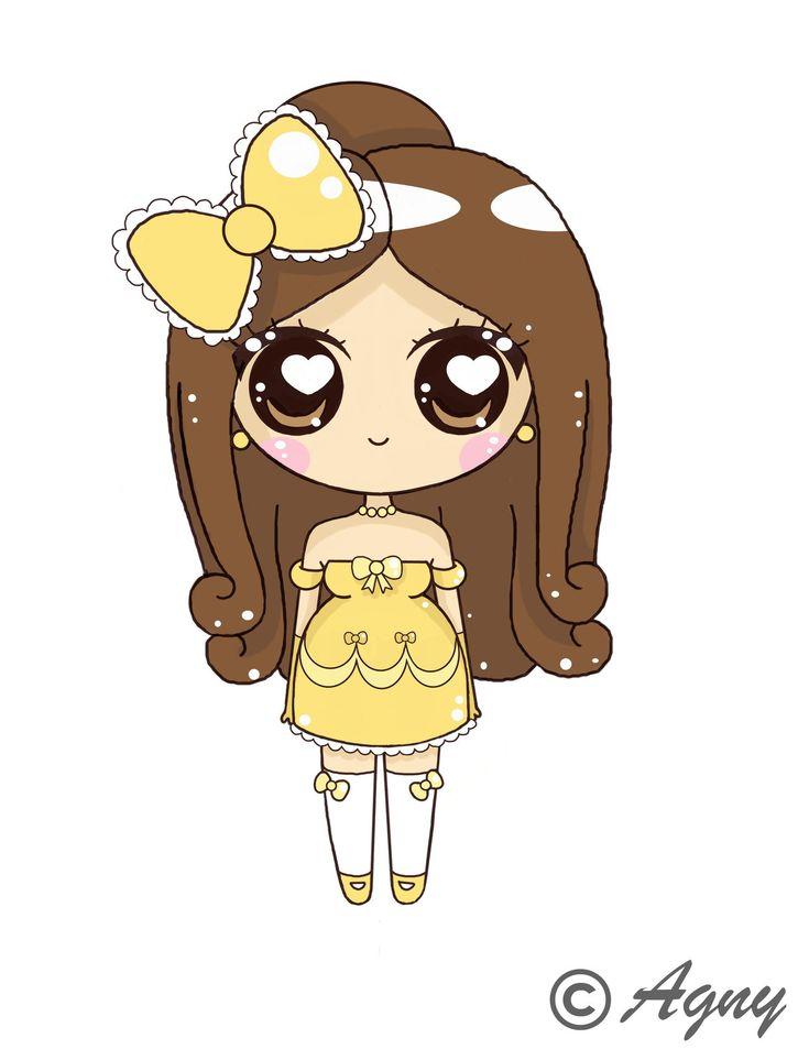 Belle kawaii by - Dessin anime princesse ariel ...