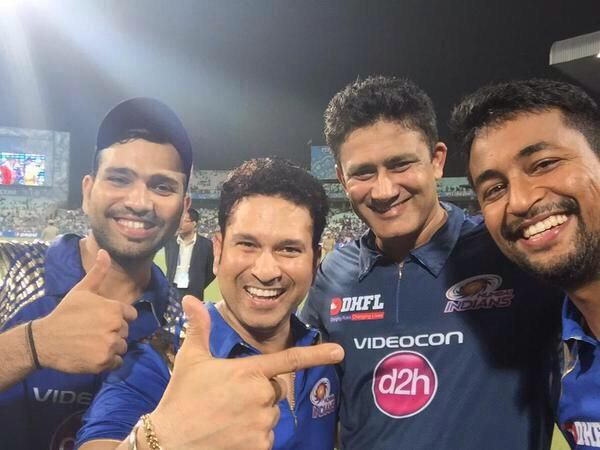 Rohit, Sachin, Anil Kumble and Ojha
