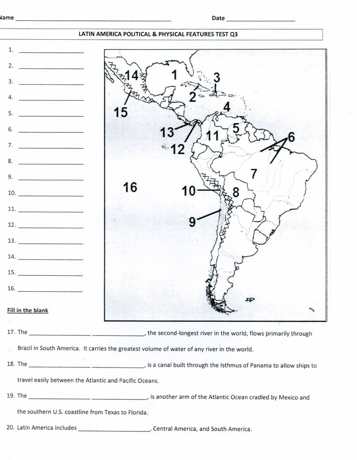 Latin America physical and political map - Mrs. Davis' 6th Grade Social Studies class.  Lots of resources for units on Latin America, Canada, Europe, and Australia.  http://cmsfdavis.wikispaces.com/