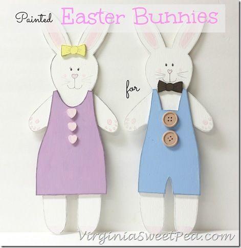 Painted Easter Bunnies by Sweet Pea
