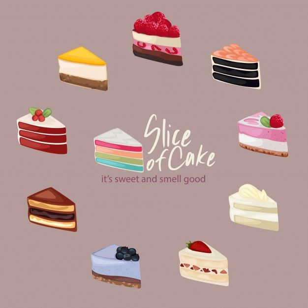 Cute Slice Of Cake Illustration Cake Illustration Cake Slice Cake