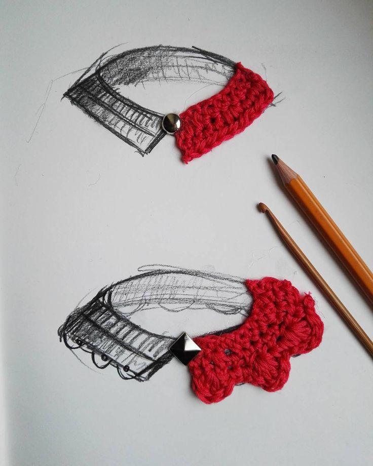 Czasem trzeba zrobić #szkice 😉 #crochet #crocheting #collar #crochetcollar #kołnierzyk #szkiowanie #projektowanie #sketch #sketching #szydełkowanie #szydełko #handmadeinpoland #handmadefashion #rekodzieło #byhand #craftart #craft #i_love_rekodzielo #inprogress #wip #textileart #yarn #yarnporn #karolahandmade