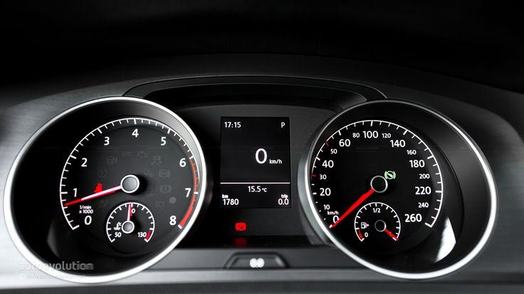 VOLKSWAGEN Golf 7 speedometer and rev counter