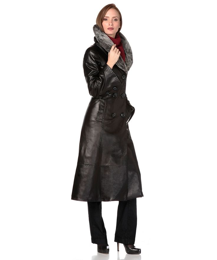 245 best Leather Trench Coats images on Pinterest