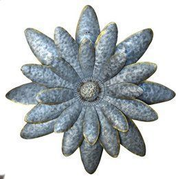 Metal Wall Art is super cool, trendy and stylish especially for rooms such as offices and kitchens.  In fact, there is a wide variety of metal wall art from crazy abstract metal wall art to beautiful floral metal wall art.  #metalwallart #homewallartdecor #homedecor   Daisy Dimensional Antique Tin Galvanized Metal Flower Petals Hanging Mounted Wall Décor Wreath, 16.9 Inches