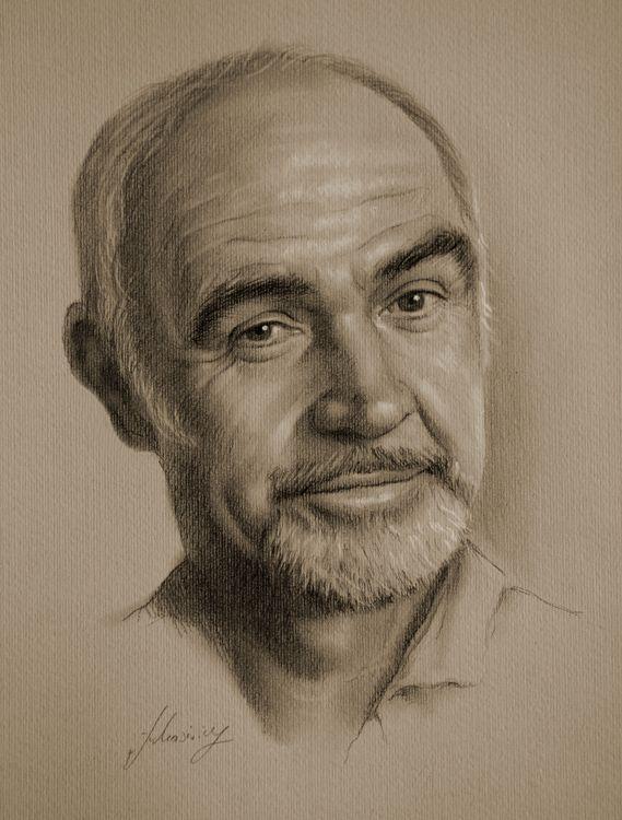 Celebrity Pencil Portraits - Sean Connery