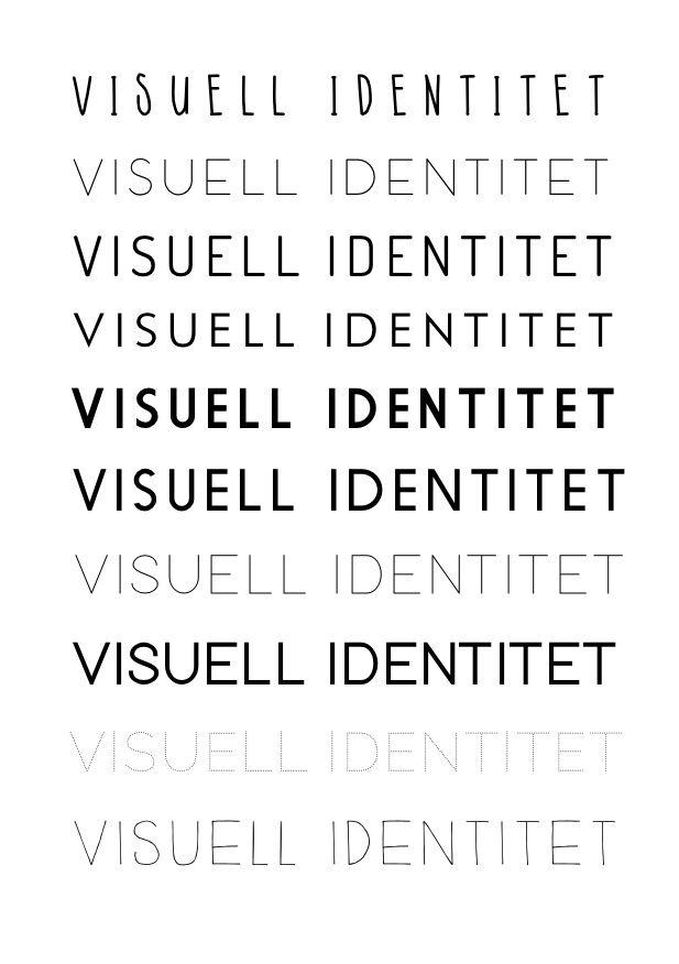 Visuell identitet beskrevet med fonter