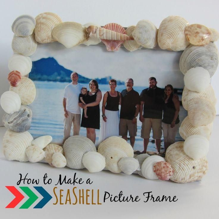 How to Make a Seashell Picture Frame | mybigfathappylife.com
