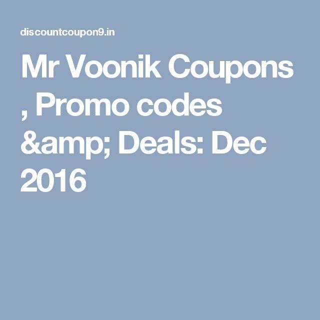 Mr Voonik Coupons , Promo codes & Deals: Dec 2016