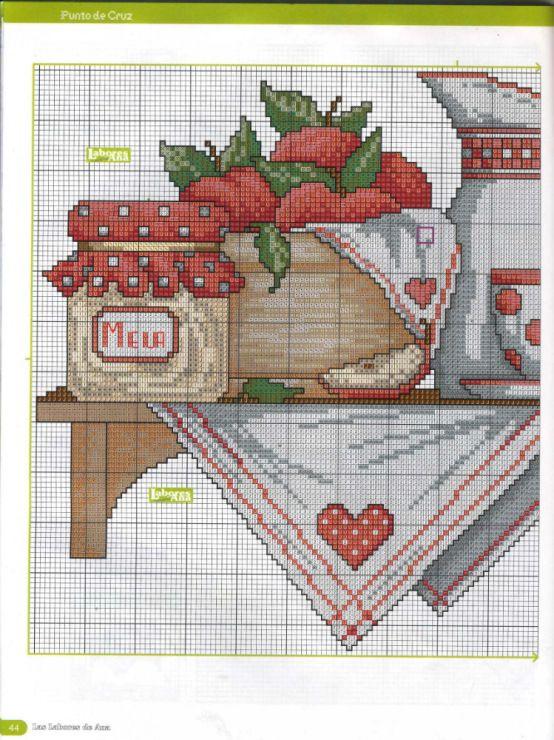 4908 best cross stitcher ideas images on pinterest cross for Cross stitch kitchen designs