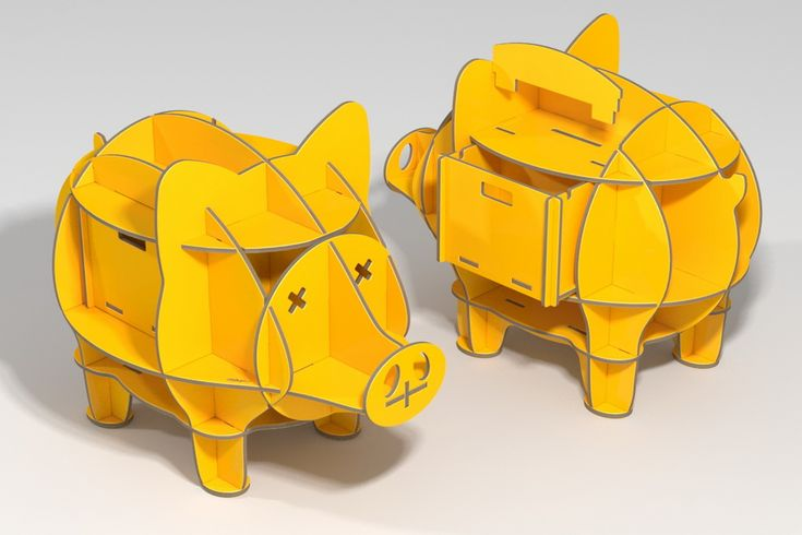 piggy bank / plywood furniture / cnc router