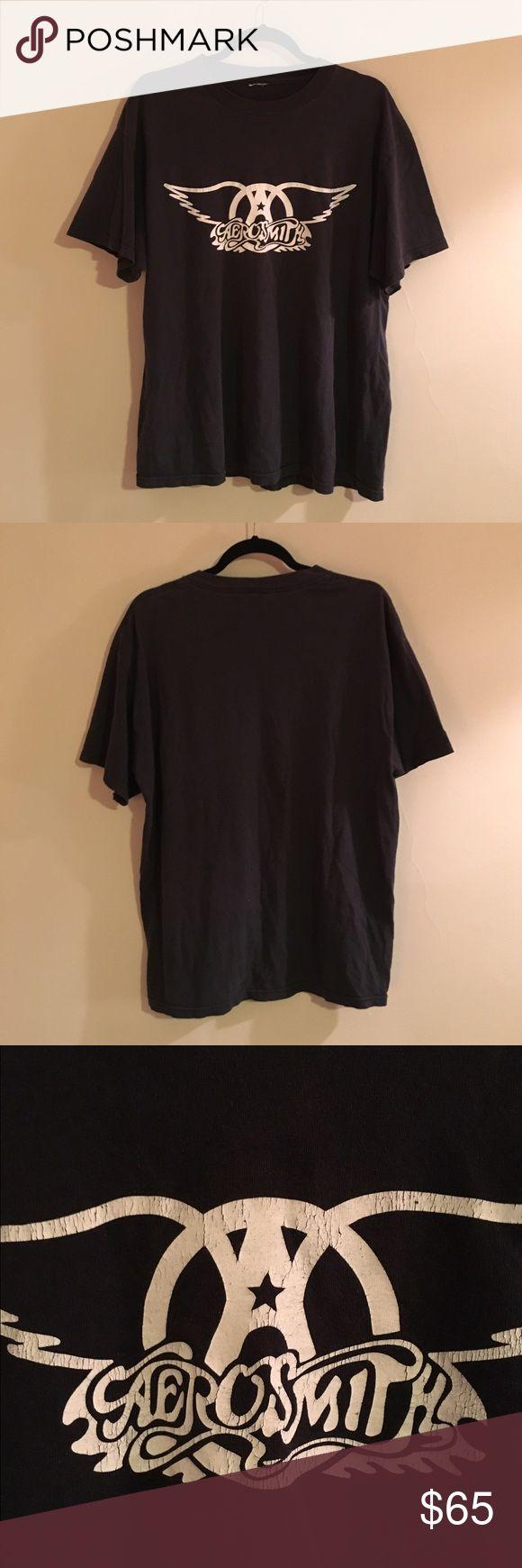 Vintage 80s Aerosmith Tour T-shirt Awesome vintage Aerosmith concert shirt. No longer has tag but fits like Men's Large Vintage Tops Tees - Short Sleeve