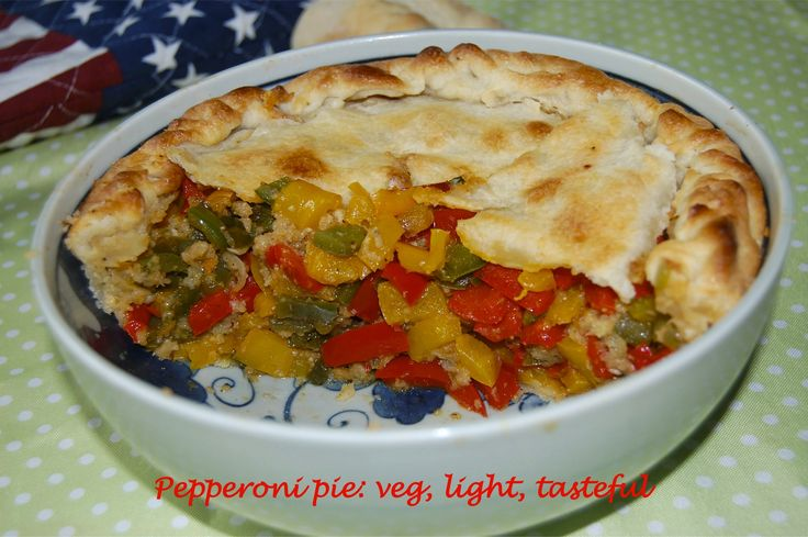 Pepperoni pie: veg, light, tasteful