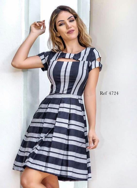 c4fad6b05d38 Vestidos curtos para festa: Dicas e looks | vestidos cortos | Vestidos,  Modelos de vestidos listrados, Vestidos casuais