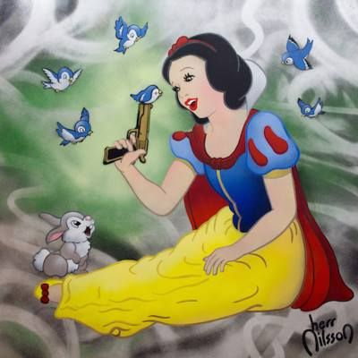This is our new available work by Herr Nilsson Contact us at www.meadcarney.com for details!  #meadcarney #HerrNilsson #artist #art #streetart #snowwithe #disney #fairytale #artcollector #collector #collection #London #contemporaryart #fineart #gallery