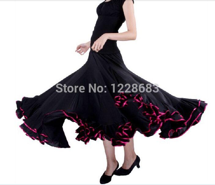 >> Click to Buy << Red Black Green Blue Purple Pink Women Spanish Faldas De Baile Flamenco Dance Skirt Costume Bailar Flamenco Dresses For Girls #Affiliate