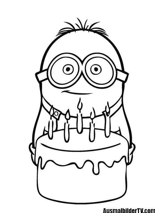 Malvorlage Minion Minion Coloring Pages Happy Birthday Coloring Pages Birthday Coloring Pages