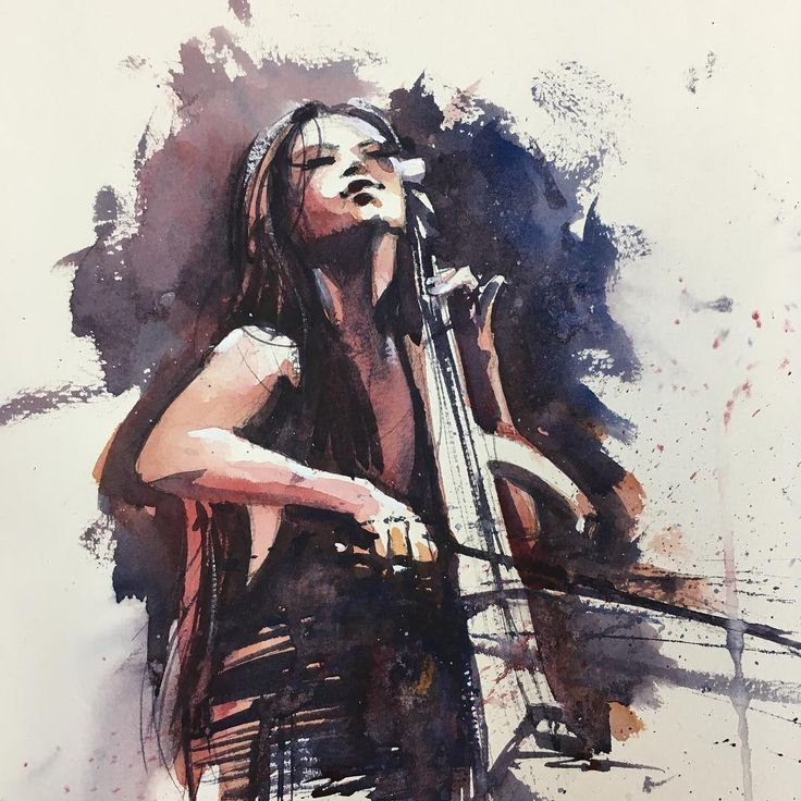 """649 mentions J'aime, 12 commentaires - Judd Mercer (@juddmercer_art) sur Instagram : """"Another #cello piece! I got to see #hanszimmerlive last weekend featuring the amazing @tinaguo!…"""""""