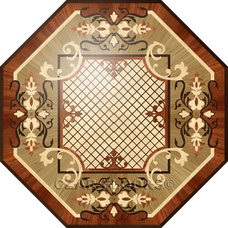 Larger image for R60 In Wood Medallions - part of Czar Floors collection of unique decorative flooring products.