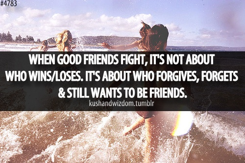This is how I know we aren't friends anymore, I'm tired of forgiving... and I already forgot