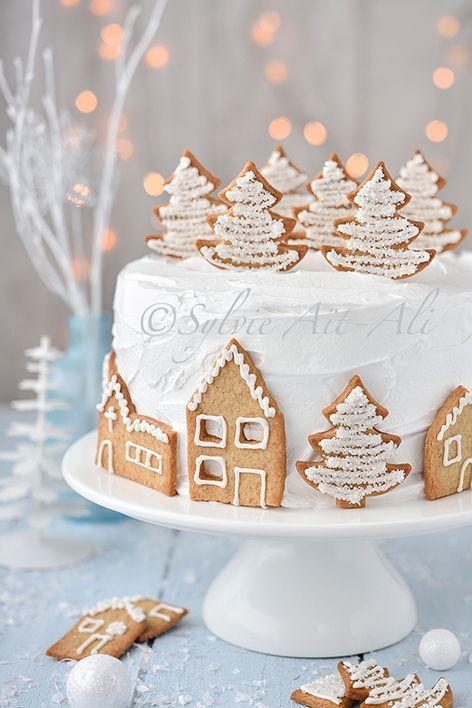 Village sous la neige et Cadeau - Amuses bouche