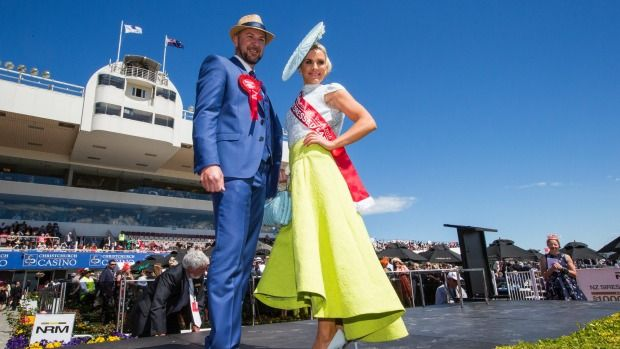 Westfield Riccarton Style Stakes Best Dressed Lady and Best Dressed Man at Addington Raceway 2016