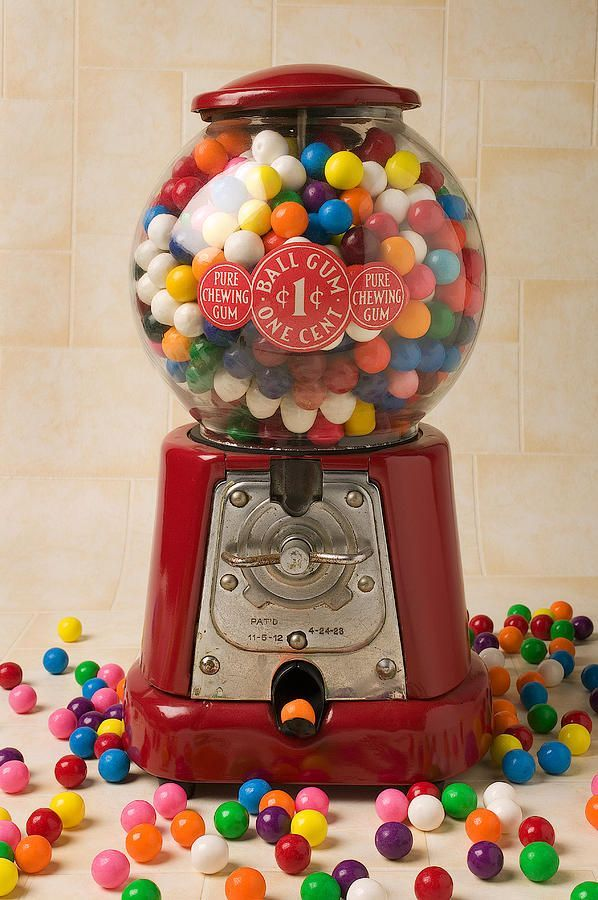 Lot of 2  Bubble Gum Gumball Machine Christmas Ornament FREE SHIPPING