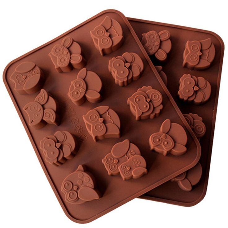 12 Unità di Figura Del Gufo Del Silicone Del Cioccolato Della Muffa 1 PZ Cottura Della Torta Della Muffa Facile Pulizia Muffa Del Ghiaccio(China (Mainland))
