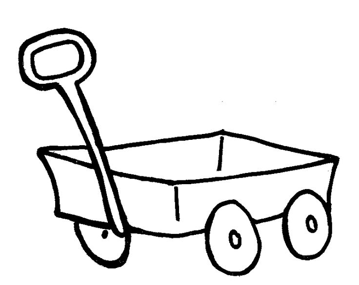 wagon coloring pages - little red wagon coloring page sketch coloring page
