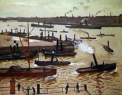 'Rotterdam', huile sur toile de Albert Marquet (1875-1947, France)