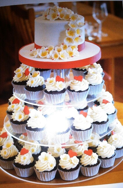 Gorgeous cup cake wedding cake