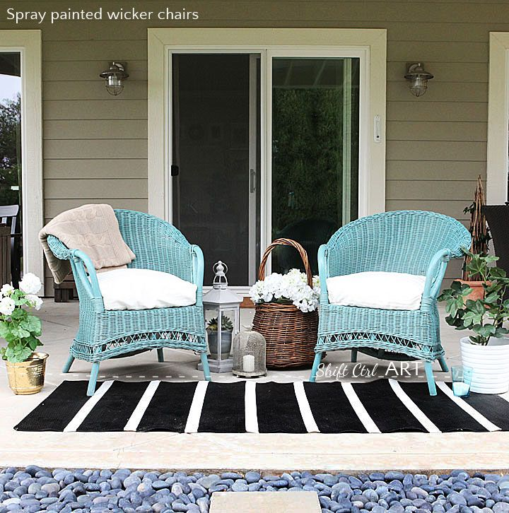 Spray Paint True Coat II wicker chair garden furniture