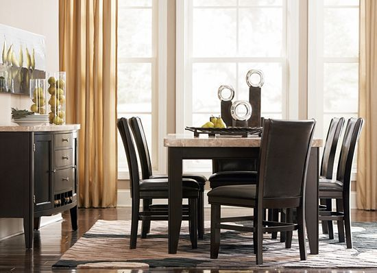 Havertyu0027s Whitney Counter Height Table, Server And Chairs For Eat In  Kitchen Or Informal Dining Area