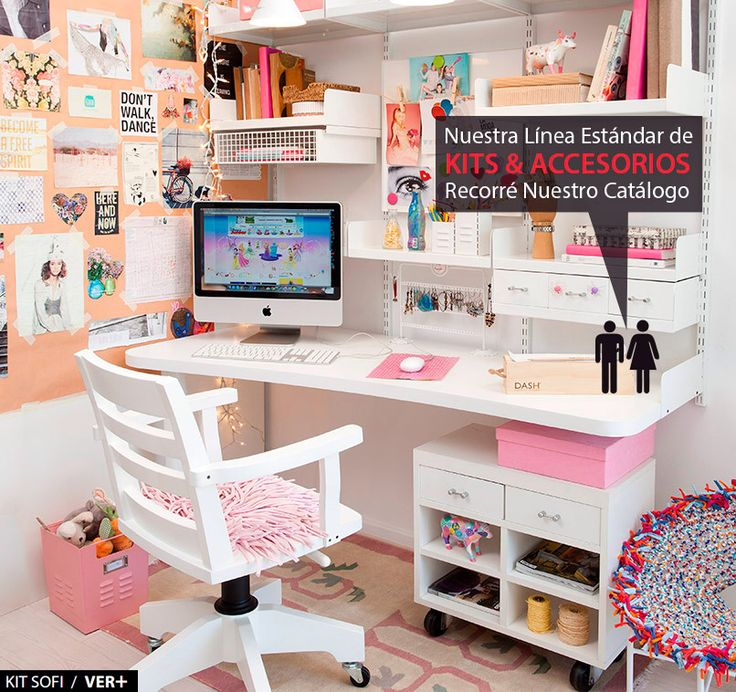 1000 ideas sobre espacio en escritorio para ni os en for Cuartos decorados kawaii