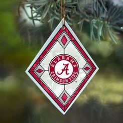 Alabama Crimson Tide Art-Glass Ornament