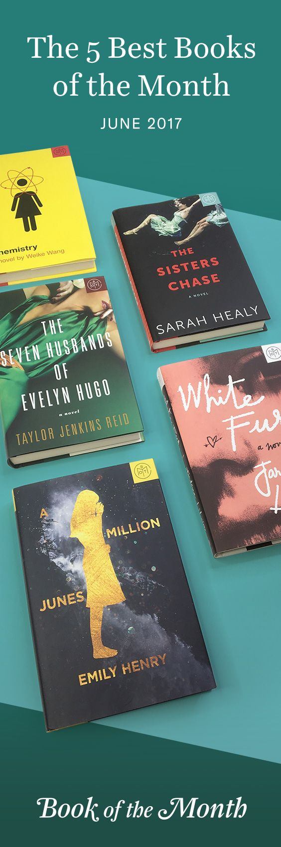 The five best books of June 2017. Head to bookofthemonth.com to learn more and start reading for $10 per book.