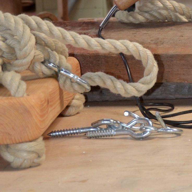 Schommel met verstelbaar touw en schommelhaken