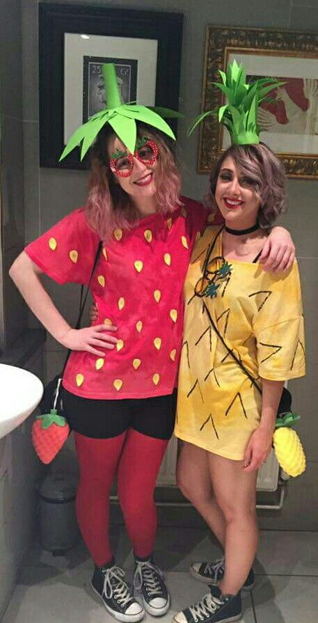 pineapple fancy dress and strawberry fancy dress. pineapple and strawberry fancy dress costume