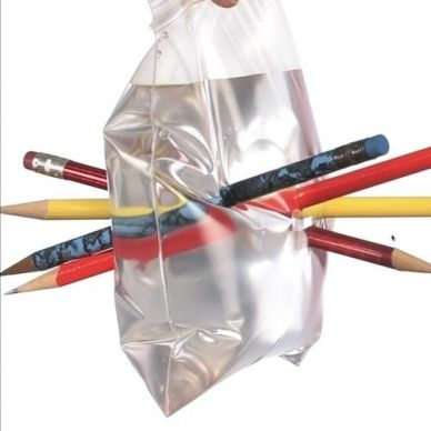 The Leak-Proof Bag - Science Trick | Experiments | Steve Spangler Science... The kids absolutely loved this!