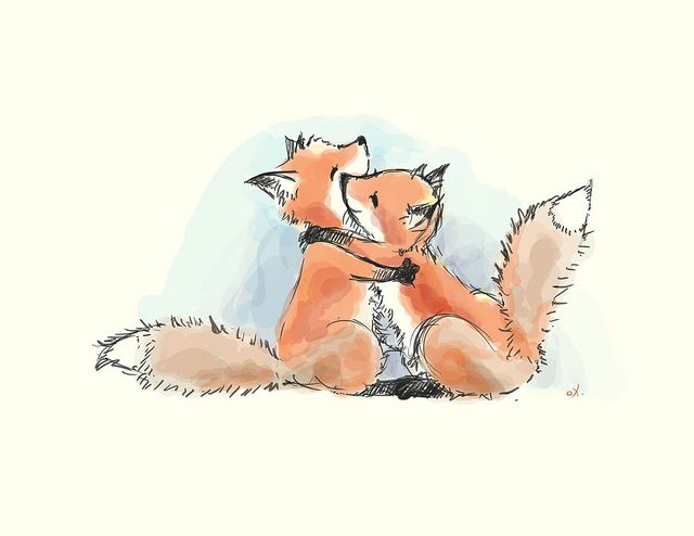 My wedding invitations will have foxes on them.