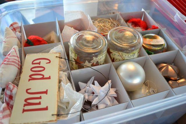 Praktisk tips til oppbevaring av julepynt