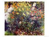 Claude Monet - Women Amidst Flowers, 1875 Digitálně vytištěná reprodukce